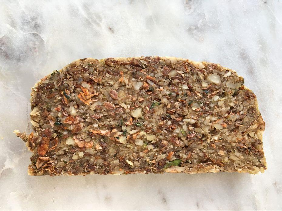 Raw Zucchini Bread - slice