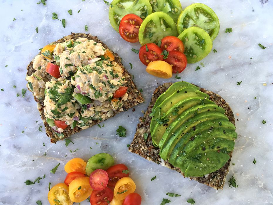 Raw Zucchini Bread - salmon salad