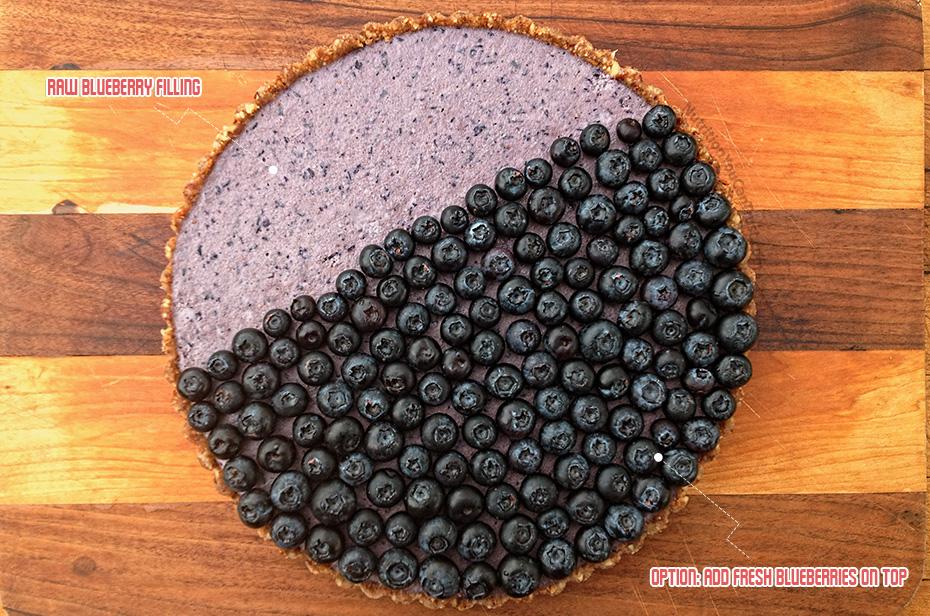 Raw Blueberry Cream Pie Recipe
