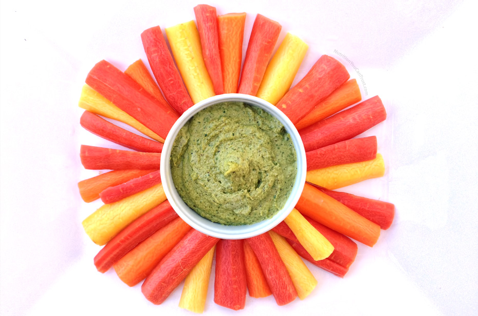 Creamy Raw Cilantro Hummus Recipe