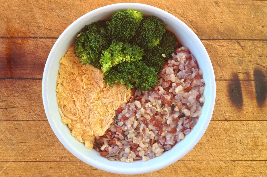 Slow-cooked orange chicken recipe:  Golden Wild Rice Chicken Bowl