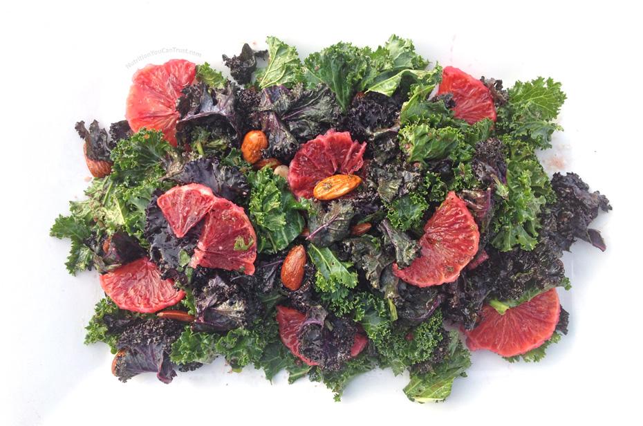 Raw Kale Blood Orange Salad Recipe