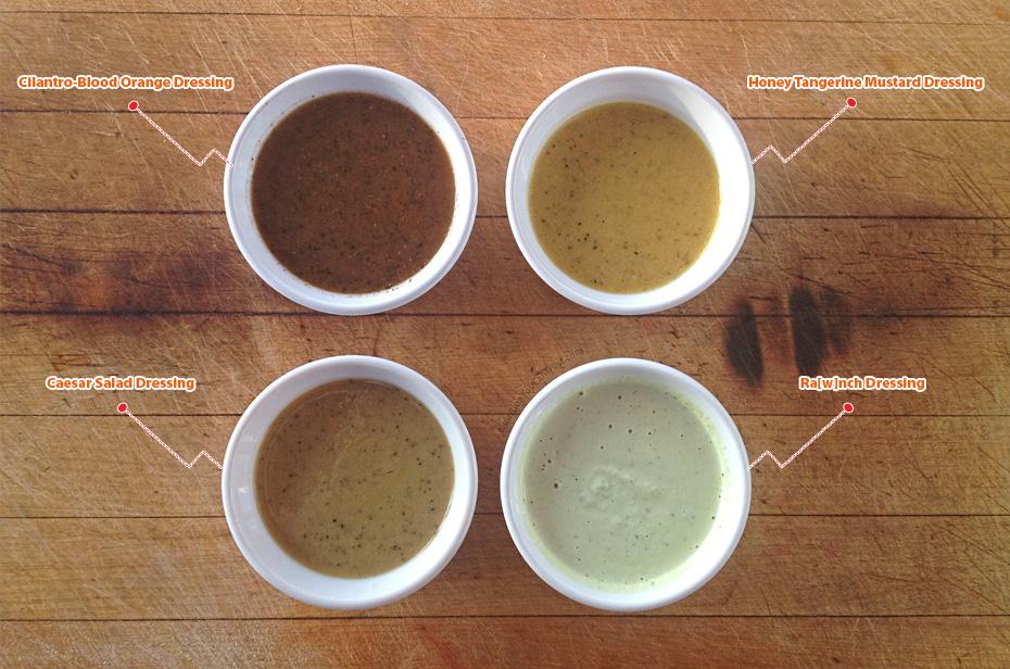 Salad meal prep & recipes - dressings