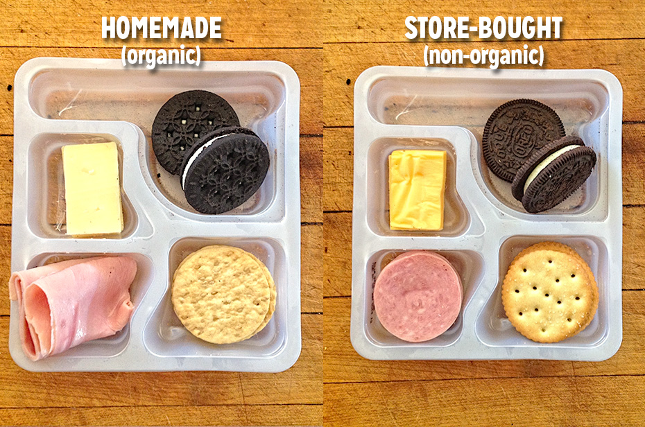 Homemade vs. Store-bought Lunchables - Less than 20 ingredients vs. More than 50 ingredients