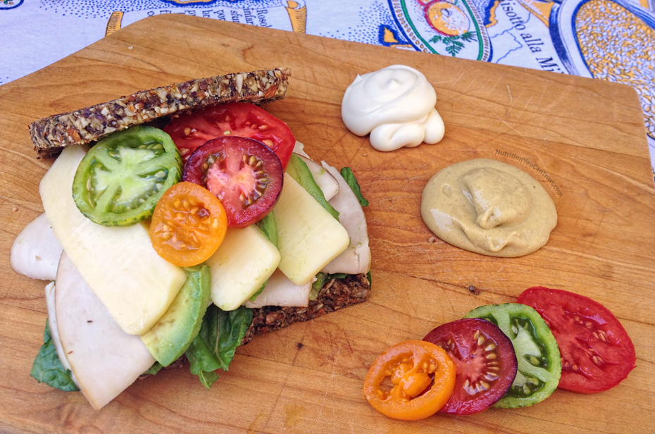 Homemade Paleo & Vegan-friendly Raw Bread Recipe - Sandwich