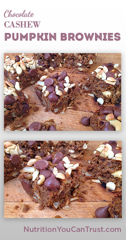 Cashew Chocolate Pumpkin Brownies_Pin