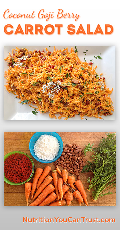 Coconut Goji Berry Carrot Salad - Pinterest
