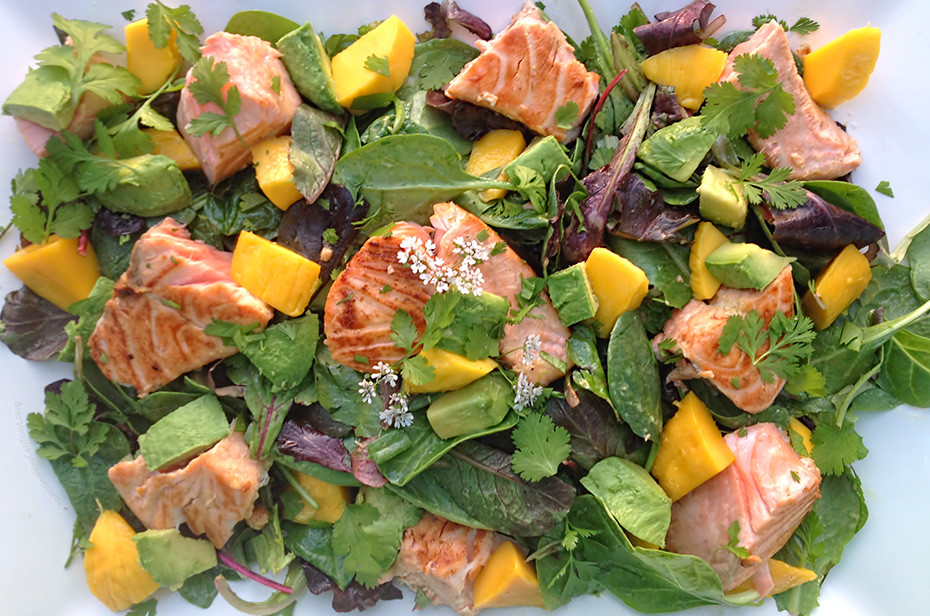 Caramelized Maple Salmon Salad - Nutrition You Can Trust