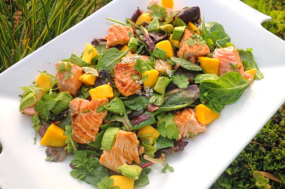 Maple Salmon Salad - Platter
