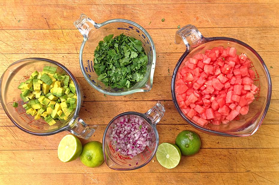 Watermelon Summer Salsa - ingredients