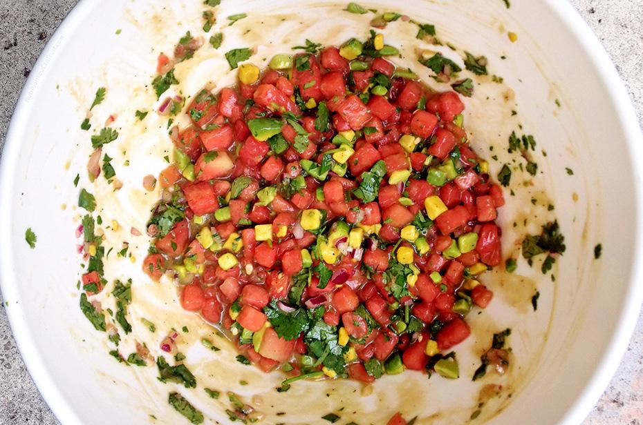 Watermelon Summer Salsa - mixed