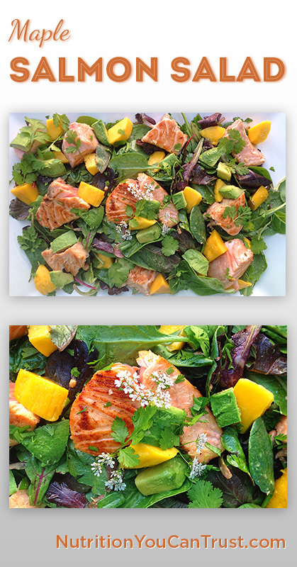 Maple Salmon Salad - Pinterest