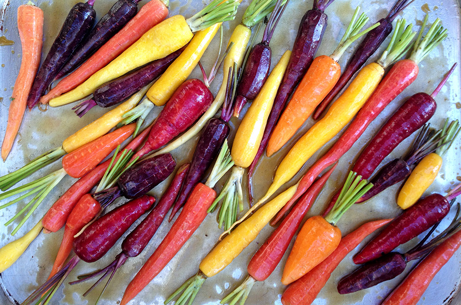 Roasted Garlic Maple Rainbow Carrots - Pre-Roasted