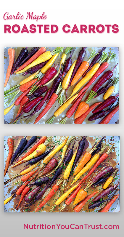 Roasted Garlic Maple Rainbow Carrots - Pinterest