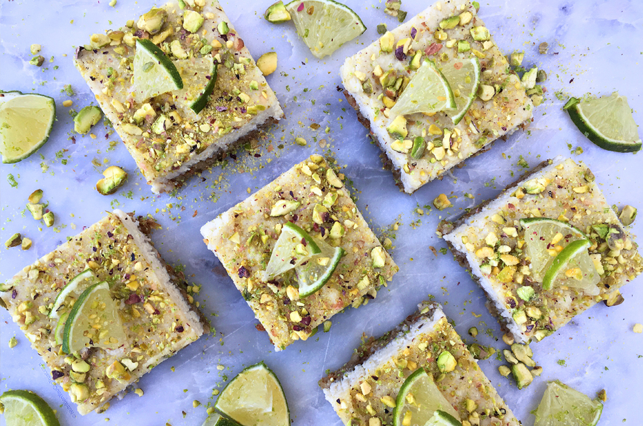 pistachio lime cheesecake squares - final